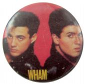 Wham! - 'Andrew & George Red' Button Badge